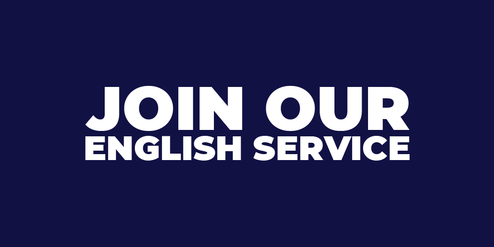Join our English Service